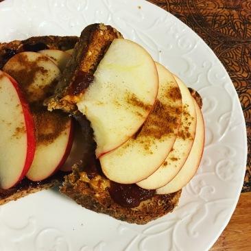 PB&J apple cinnamon toast